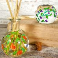 Floral Glass Bottles