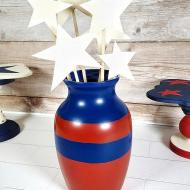 Patriotic Vase with Star Bouquet