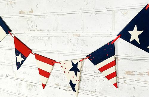 Patriotic Stars and Stripes Banner