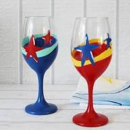 Fourth of July Wineglasses