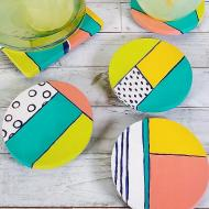 Colorblock Coasters