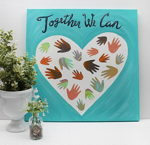"""""""Together We Can"""" Group Art"""