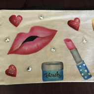 Lipstick Love Canvas Bag