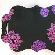 DIY Shimmering Stencilled Tray
