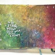 DIY Rainbow Galaxy Sketchbook