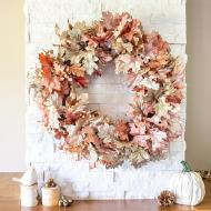 Metallic Faux Leaf Wreath