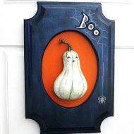 Halloween Ghost Gourd Sign