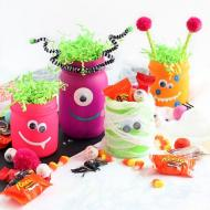 Neon Glow Halloween Monster Jars