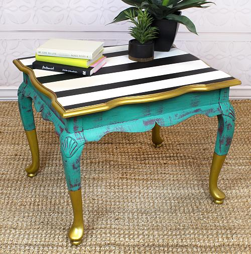Metallic Upcycled Table