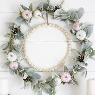Pearly Pastel Fall Wreath