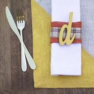 Fall Place Mat and Napkin
