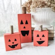 DIY Upcycled Pumpkin Blocks