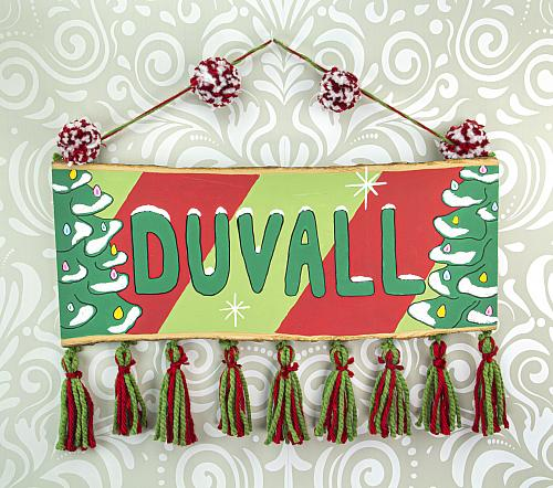 Family Name Wooden Holiday Sign