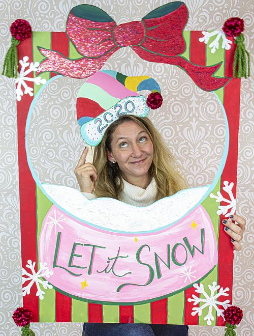 Holiday Glittered Photo Props