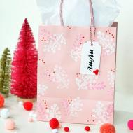 Cheery Stenciled Holiday Gift Bags