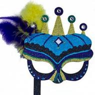 Mardi Gras Crowned Mask