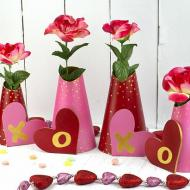 Valentine's Day Flower Vase Covers