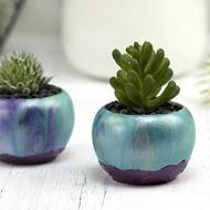 Metallic Paint Pour Mini Pots