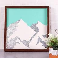 DIY Minimal Mountain Art