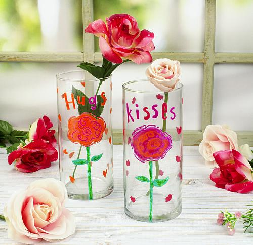 Hugs and Kisses Valentine's Day Vases