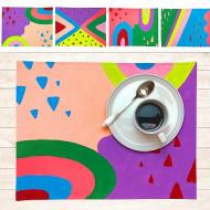 DIY Colorful Patterns Placemats