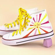 Custom Painted Shoes | Sunny Day