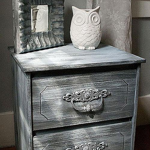 Weathered Nightstand Project By Decoart