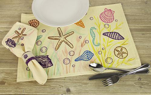 Beach Theme Table Setting - Project by DecoArt