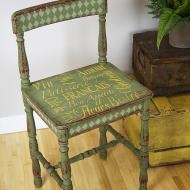 Green French Stenciled Chair