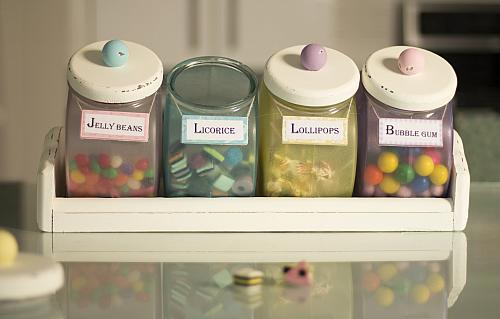 Pastel Old Fashioned Candy Canister Set Project By Decoart