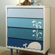 Ombre Whale Dresser