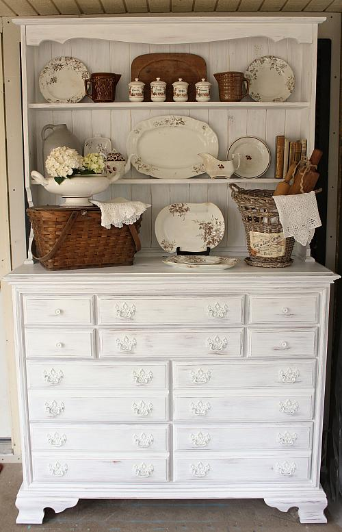 Chalky Finish Farmhouse Cupboard Project By Decoart