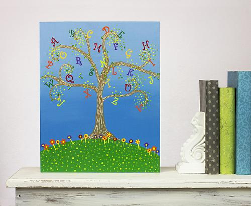 Alphabet Tree Classroom Wall Decor Project By Decoart