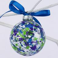 Splatter Ornament Blues and Greens