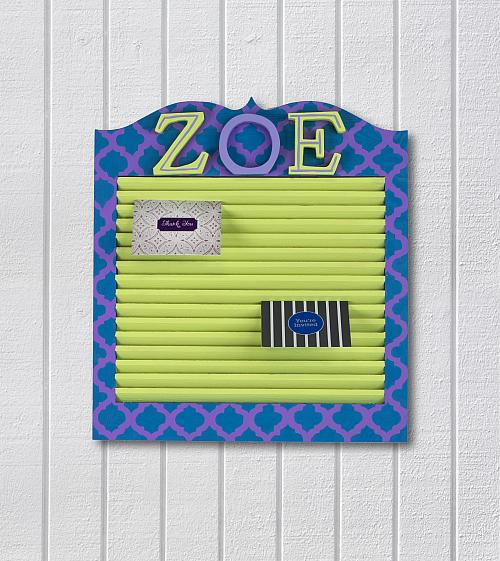 College Dorm Note/Card Holder
