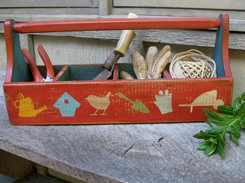 Delicieux Outdoor Themed Garden Tool Box   Project By DecoArt