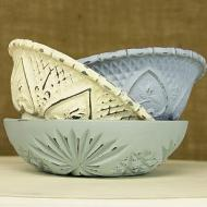 Vintage Chalky Bowls