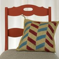 Zig-Zag Stenciled Pillow
