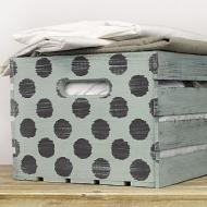 Distressed Polka Dot Crate