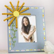 Clothespin Flower Frame