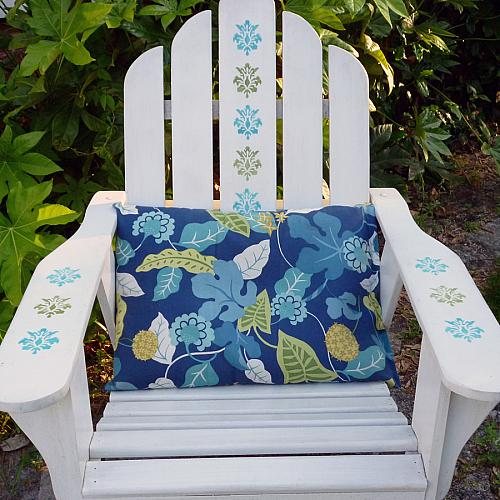 how to stencil an adirondack chair
