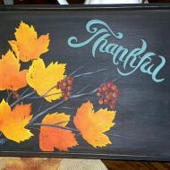 Autumn Leaves Tray