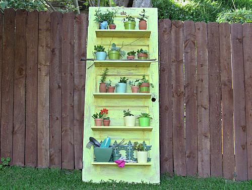 - Antique Door Planting Shelf - Project By DecoArt