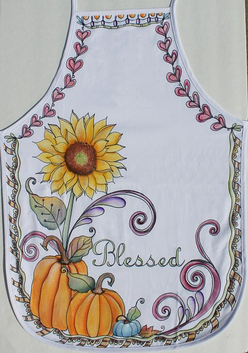"""Blessed"" Fall Apron - Project by DecoArt"