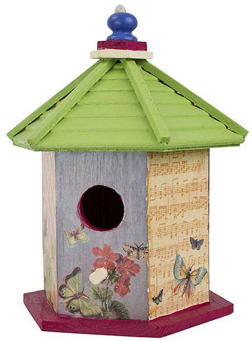erflyDecoupageBirdhouse Painted Bird House Watering Can Shape Designs on soda can bird house, clay pot bird house, beehive bird house, flower pot bird house, terra cotta pot bird house,