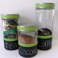 Chalkboard Dipped Canisters
