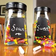 Chalkboard Candy Containers