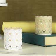 Chalky Finish Candleholders
