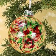 Christmas Splatter Ornament