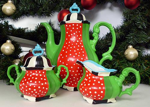 Festive Christmas Tea Set - Project by DecoArt